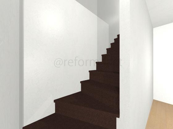 階段カーペット,濃い茶色