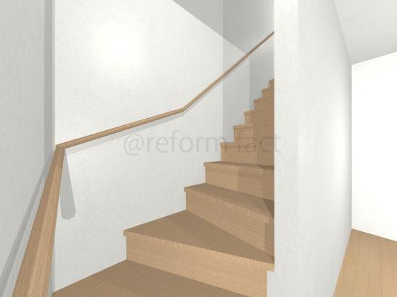 階段手すり取り付け
