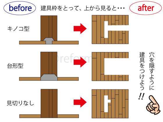 建具枠,床見切り