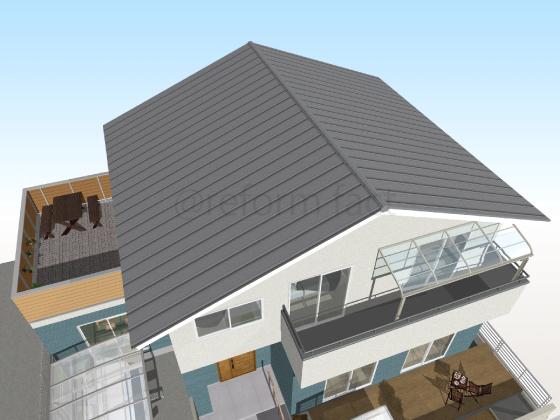 トタン屋根,工事前,張り替え前