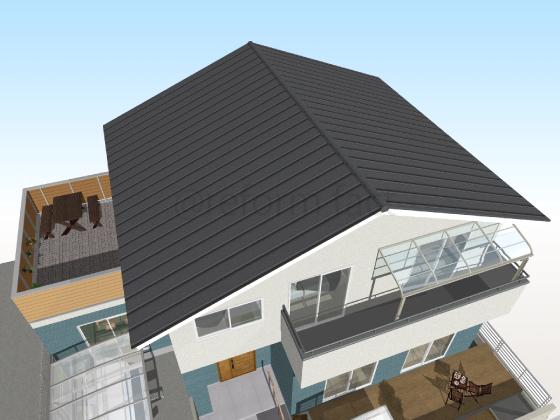 トタン屋根,工事後,張り替え後,黒色