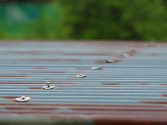 トタン屋根,古い,錆,サビ