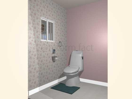 トイレアクセントクロス,プリティ,ピンク