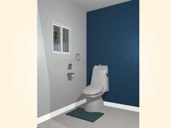 トイレアクセントクロス,シンプル,青色