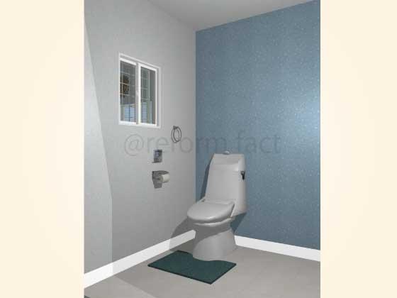 トイレアクセントクロス,シンプル,水色