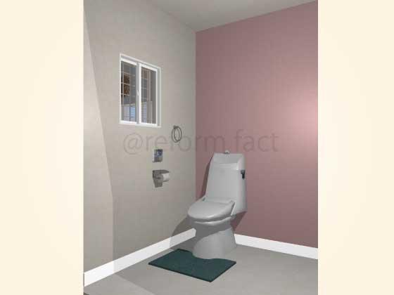 トイレアクセントクロス,プリティ,ピンク色