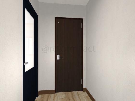 トイレ開き戸,閉まってる状態
