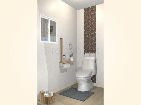 トイレ,エコカラット,ラグジュアリーモザイク,アクセント張り