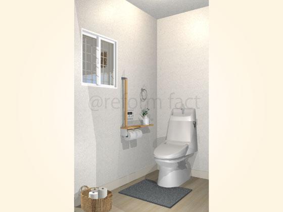 トイレ,エコカラット張り工事前