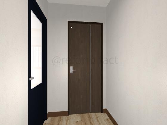 トイレ折れ戸,閉まってる状態
