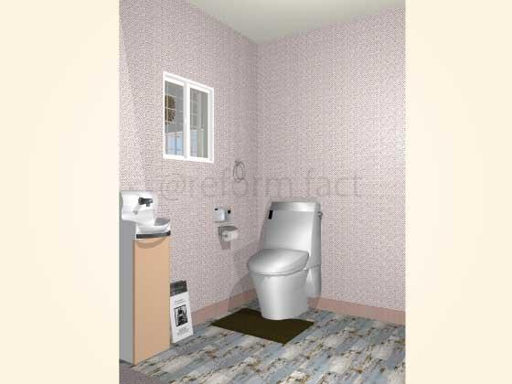 トイレの手洗い器を新設