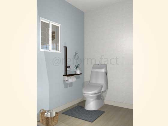 トイレ,壁紙クロス張り替え,アクセントクロス