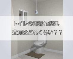 トイレの雨漏れ修理、費用はどれくらい?