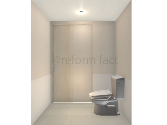 洋式トイレ,片引き戸,バリアフリー