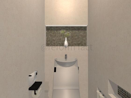 トイレニッチ収納,飾り棚