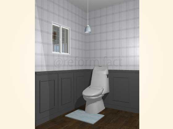 トイレ,腰壁パネル,工事後