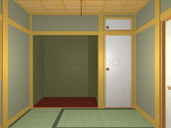 床の間を収納リフォーム