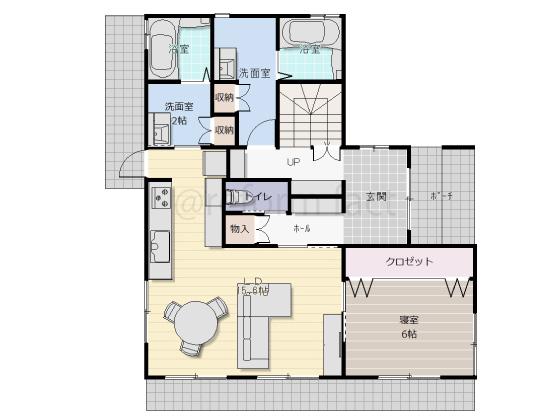二世帯住宅,一軒家,戸建て,1階