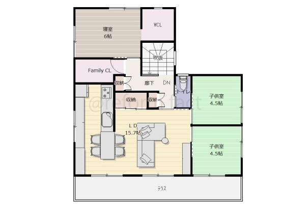 二世帯住宅,一軒家,戸建て,2階