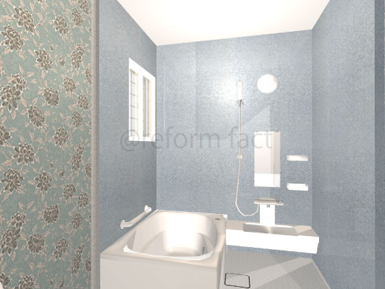 浴室壁,シート,リアテック,ダイノック,ブルー