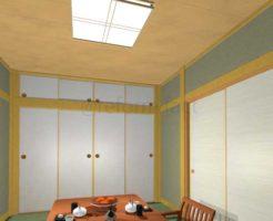 和室天井板,ラミネート天井,張替え前