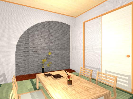 和室,グラナス,壁一面