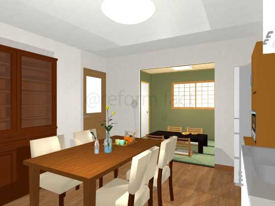 和室をキッチン(LDK)に変更