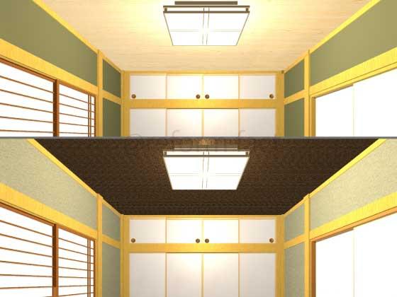 和室の天井をクロスにしたい