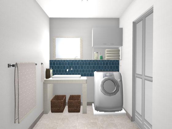 造作洗面台,シンプル